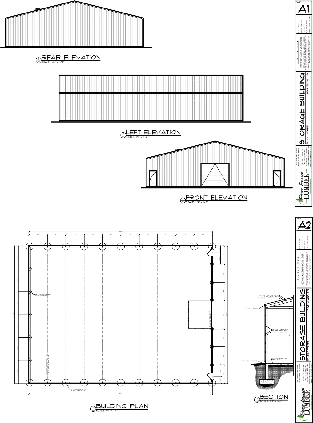 60x80 Cold Storage Building